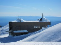 Mt. Bachelor Observatory building from above