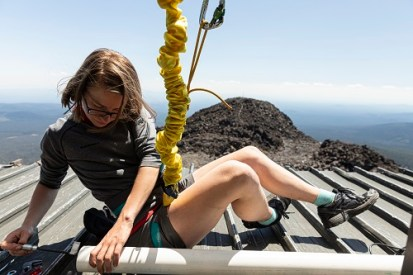 Claire Buysse at Mt. Bachelor Observatory, July 29, 2019