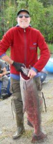 Dan with salmon July 2020