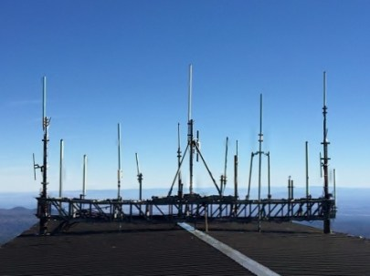 Inlets on roof of Mt. Bachelor Observatory, Sept. 2015