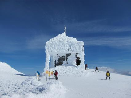 Mt. Bachelor Observatory in winter