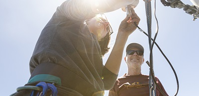 Faculty and students install instruments at Mt. Bachelor Observatory.