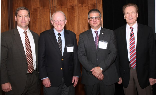 Doug Dixon, Gary Armitage, Rafael Benoliel and Ed Truelove at the WDSF Distinguished Professor Symposium