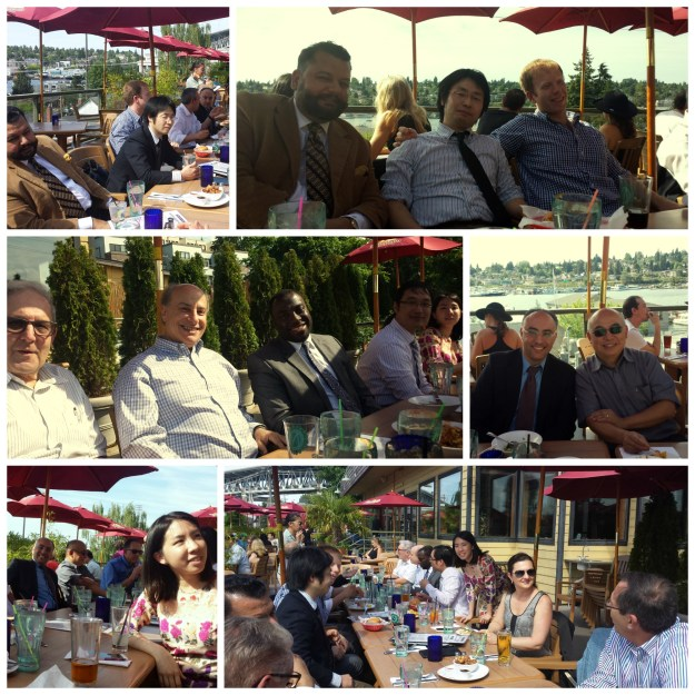 The sun was out and the view from the deck of Eastlake Bar & Grill was hard to beat - so was the company last Friday!