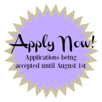 Apply now, applications being acception until August 1, 2016