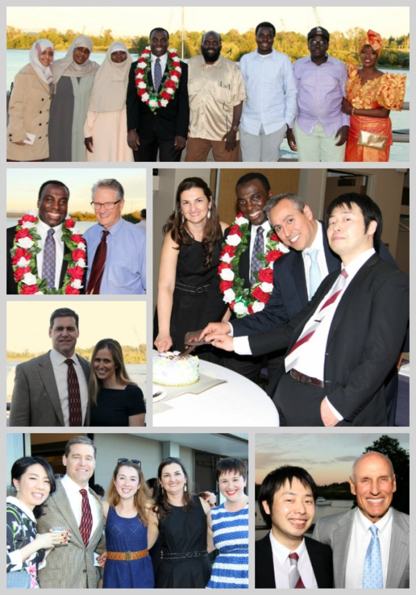 graduate students and faculty members in a photo collage