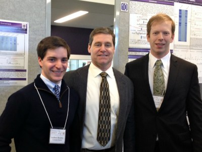 Drs. Andrew Brodsky, Douglas Dixon and Mikhail Garibov at Research Day 2017.