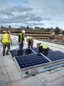 Installing solar panels!
