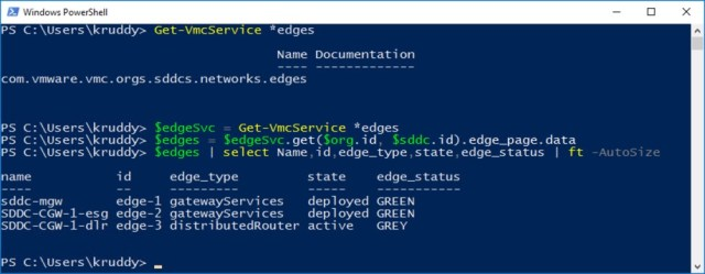 Example: NSX Edge Discovery