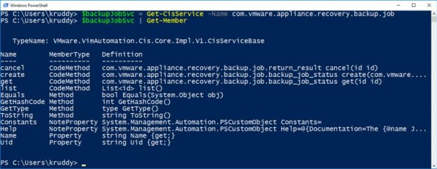 File-Based Backup Example - Working with the CIS Service