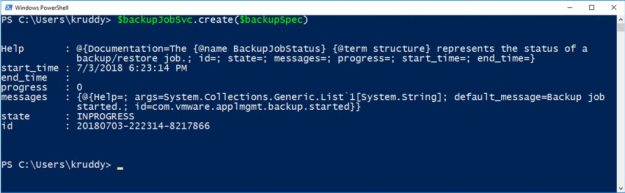 File-Based Backup Example: Creating Backup Job