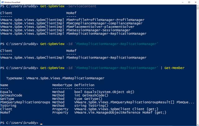 Example: Get-SpbmView Usage