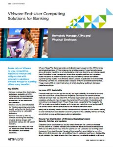 VMware EUC Solutions for Banking