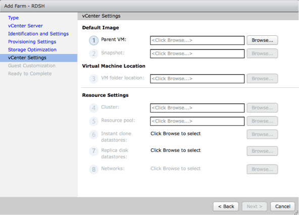 vCenter-Settings