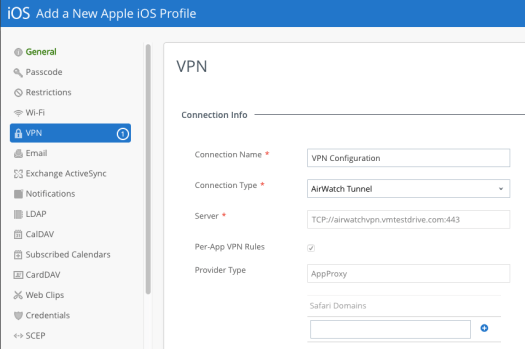ConfigureAPer-AppVPNProfile