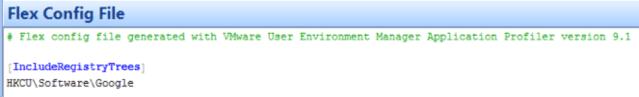 Flex Config file