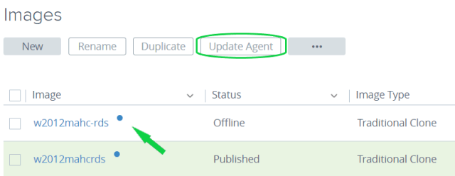 Upgrades with Horizon Cloud Service on Microsoft Azure - Agent Upgrade dot and Button Easy