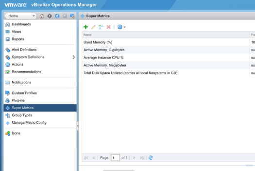 How to create a percentage super metric in vRealize Operations