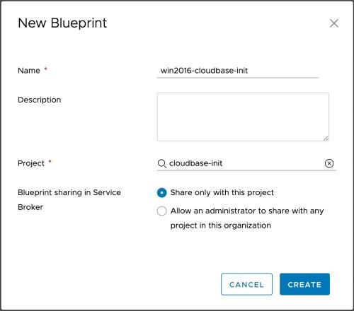 Create Blueprint