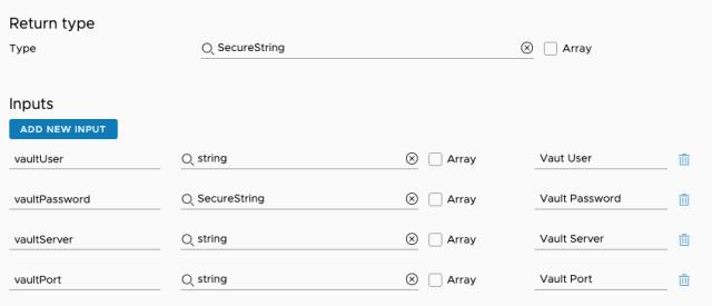 getVaultToken inputs/outputs