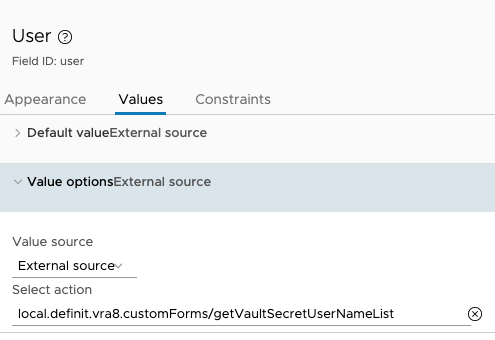 Custom Form Input Configuration - User