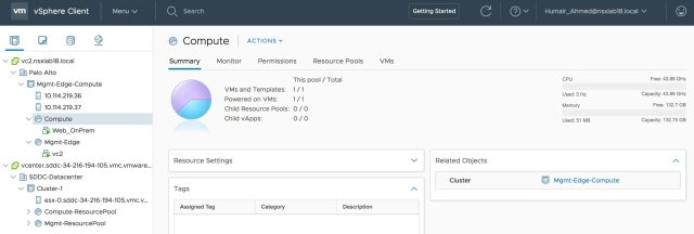 Figure 2: Managing Multiple vCenters with HLM in VMware Cloud on AWS