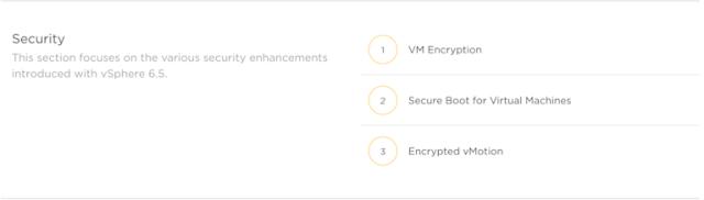 vSphere 6.5 Security Product Walkthroughs
