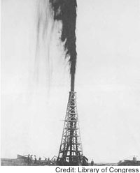When Anthony Lucas, an Austrian-born mining engineer, struck oil on Spindletop Hill, the gusher spewed for nine days until the well was capped.