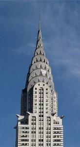 The art-deco spire of the rival Chrysler Building.  (Carol M. Highsmith)