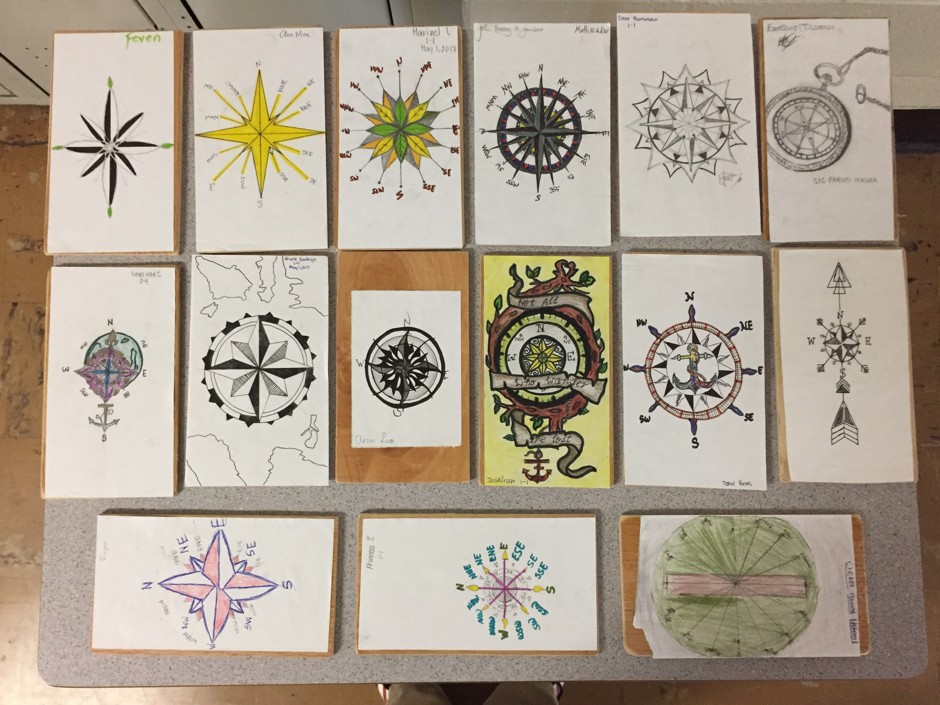 Compass Rose Project Art Math Keller S Blog Site