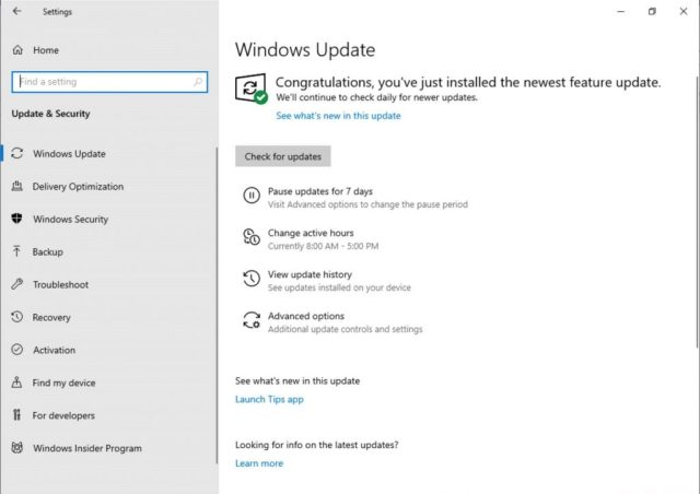 Microsoft pushes Build 18282(19H1) to Windows Insiders in the Fast