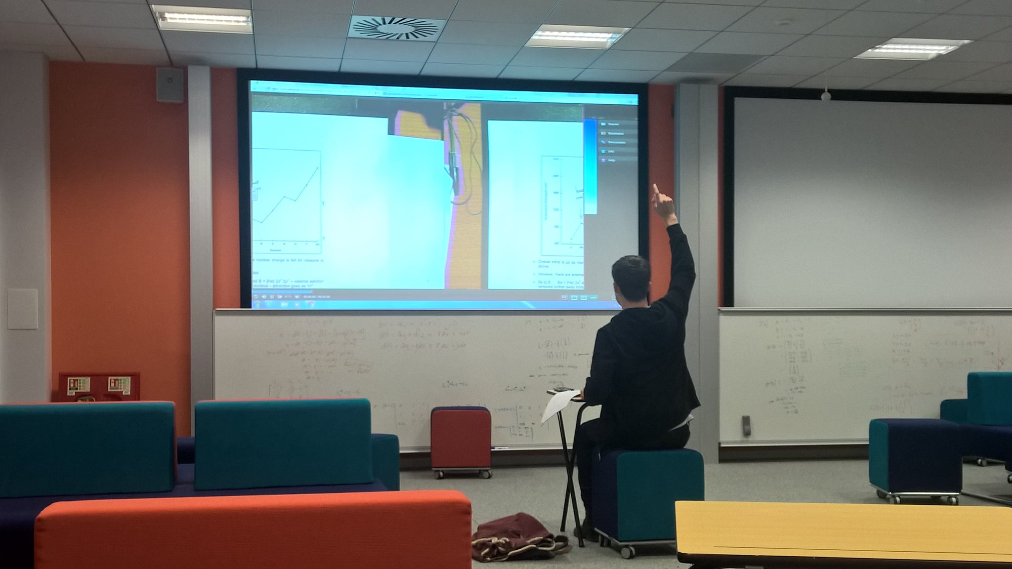 I used the room to catch up on a missed lecture and made the situation as real as possible.