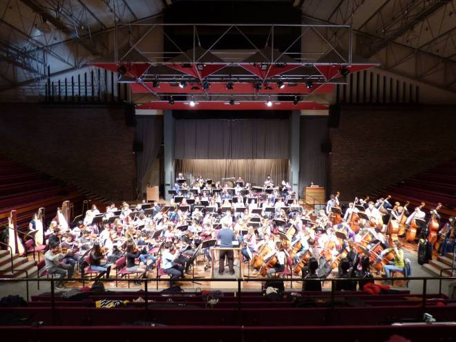 Symphony Orchestra in final rehearsals before Mahler concert