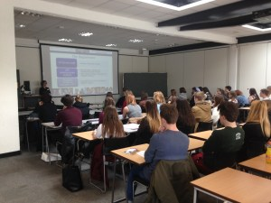 A sociolinguistics sample lecture at the most recent visit day. A great way to experience the teaching style at University!