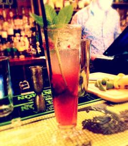 Pretty drink in Edinburugh