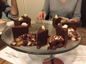 Delicious cake at York Cocoa House