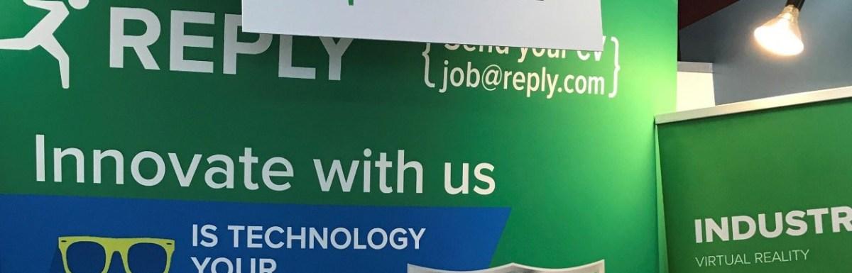Reply Ltd career fair stand