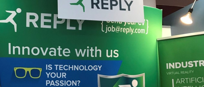 Reply Ltd career fair stand