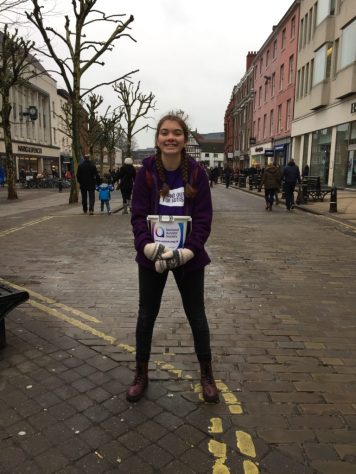 Collecting money to raise funds for The National Autistic Society