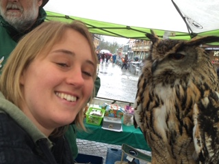 Volunteering at the bird of prey rescue centre as part of the York award