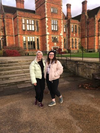 Why I chose to study at the University of York - me and Hannah outside Heslington Hall