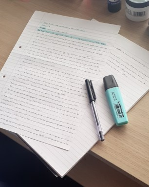 Transitioning from school or college to university study - my trusty pen and paper
