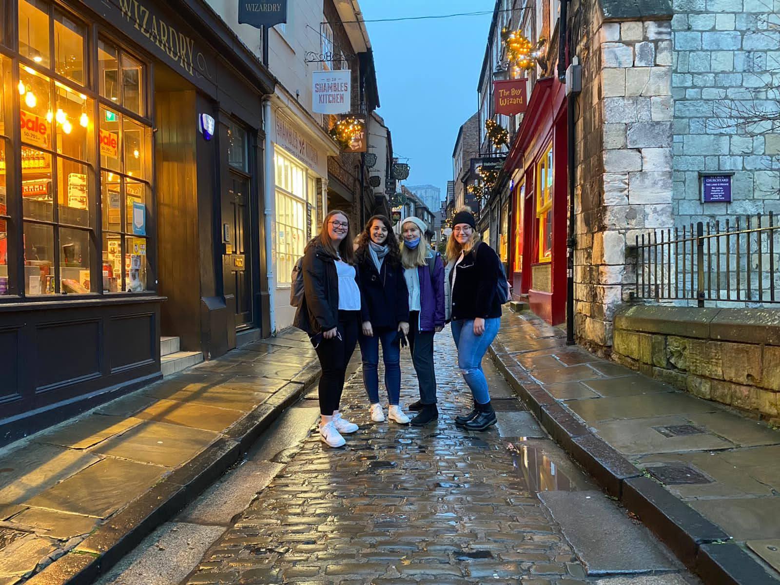 University of York students visit The Shambles
