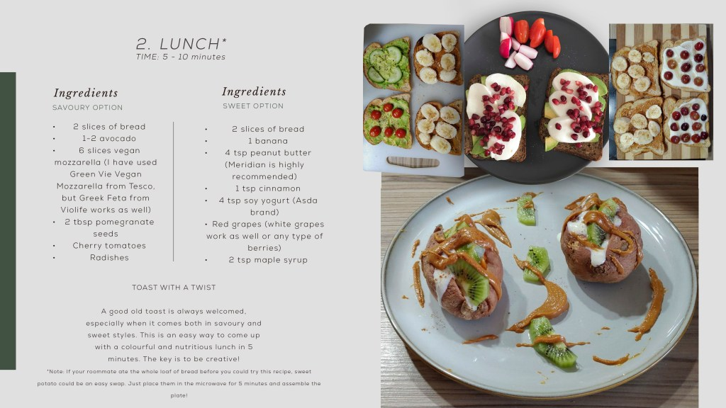 Recipe card for lunch