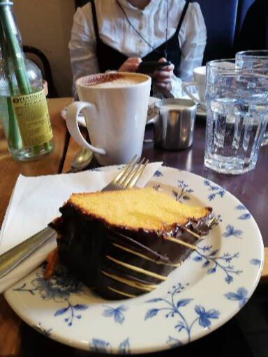 A cake from one of York's many hidden gem cafés.