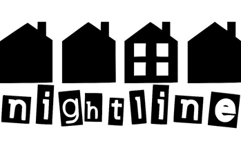 Logo of the Nightline organisation which offers help with managing mental health issues.