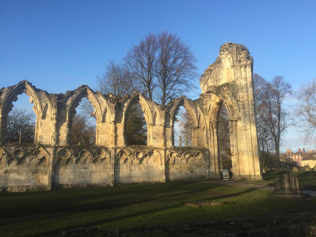 Image showing the ruins of St Mary's Abbey in the museum gardens