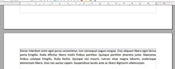 Interruzione di pagina in OpenOffice
