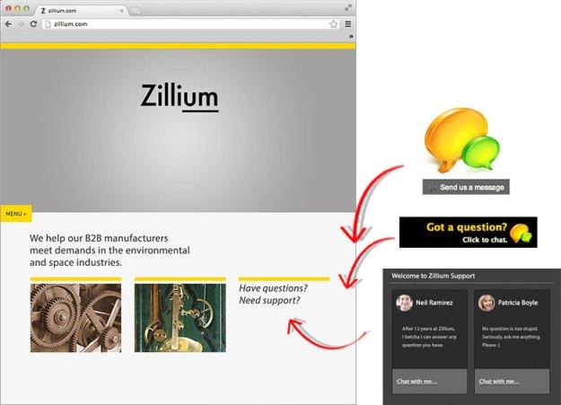 Ofereça aos seus clientes acesso fácil ao chat de suporte ao vivo