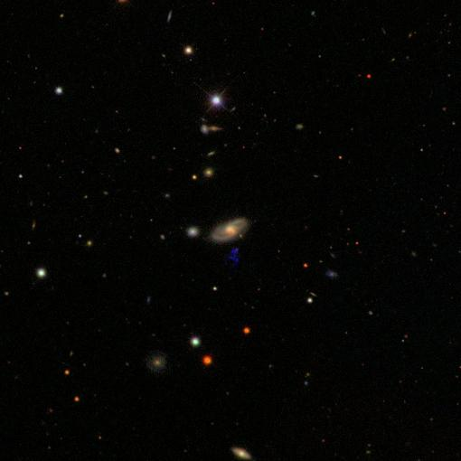 IC 2497 field from SDSS matching GALEX image